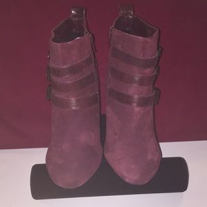 NEW Jessica Simpson Burgundy Women's Caries Boots
